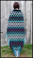 Black and Blue Kilim Shawl