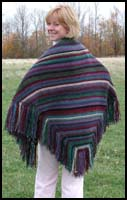 Dark Jewel Striped Shawl Striped Shawl