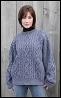 Dark Blue Heather Aran