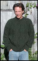 Dark Green Heather Aran