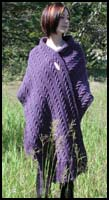 Dark Purple Cabled Shawl