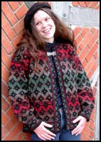 Fall with Black Crosses Kilim Jacket