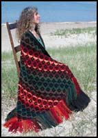 Fiery Fall Kilim Shawl