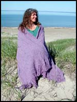 Light Purple Heather Aran Shawl