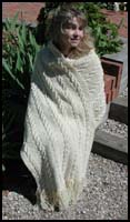 Natural Cable Shawl