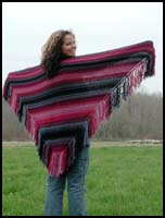 Night Sky Striped Shawl