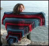 Navajo Striped Shawl